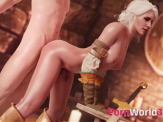 The Witcher 3 Beautiful Ciri Fuck in Every Hole